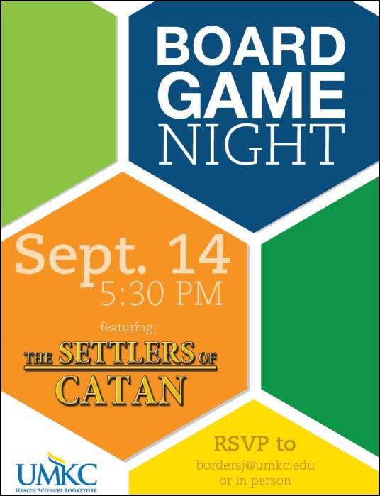 Board Game Night @ UMKC Health Sciences Bookstore