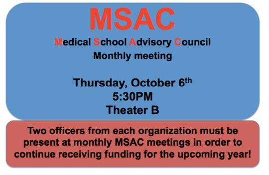 MSAC October Meeting @ Theater B