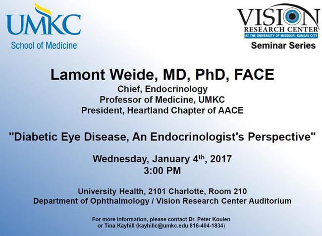 UMKC Vision Research Center Seminar Series - January 2017 @ VRC Auditorium, Rm. 210 (Univ. Health Bldg.) | Kansas City | Missouri | United States
