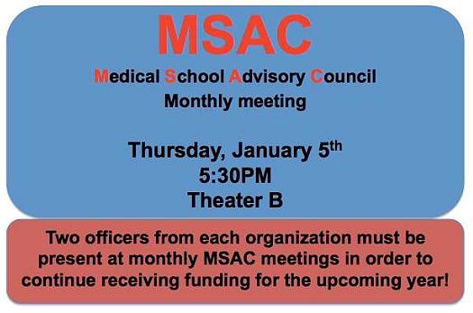 MSAC January 2017 Meeting @ Theater B