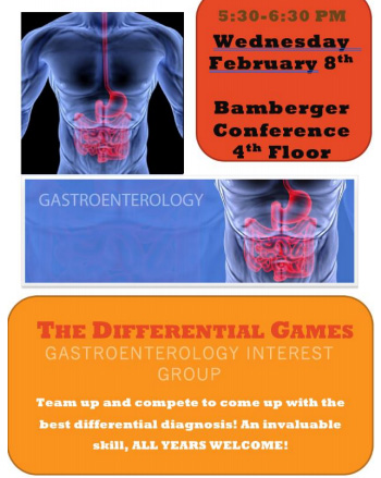 Gastroenterology IG - February 2017 @ Bamberger Conference Rm. - 4th Floor