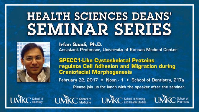 Health Sciences Deans' Seminar Series - Feb. 2017 @ School of Dentistry, Rm. 217A