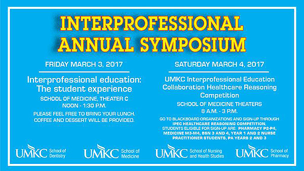 Interprofessional Annual Symposium @ School of Medicine - Theater C | Kansas City | Missouri | United States