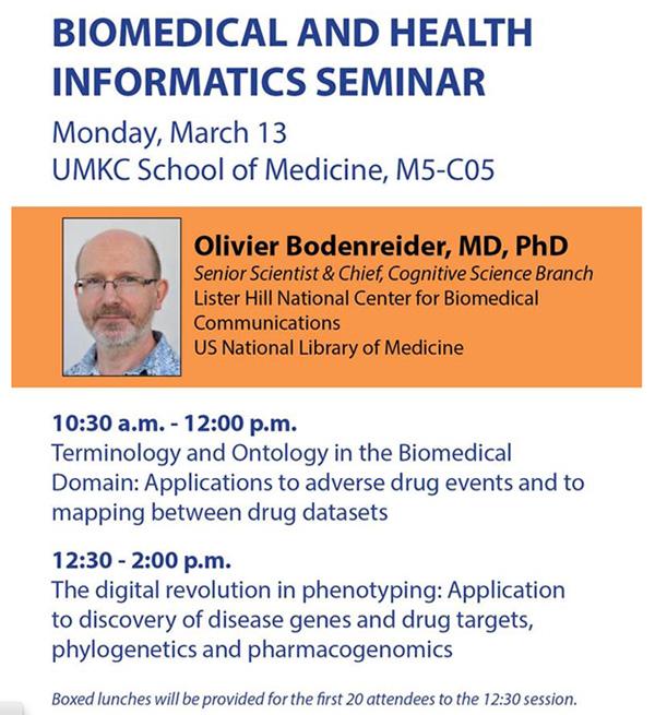 Biomedical and Health Informatics Seminar @ UMKC School of Medicine, M5-C05