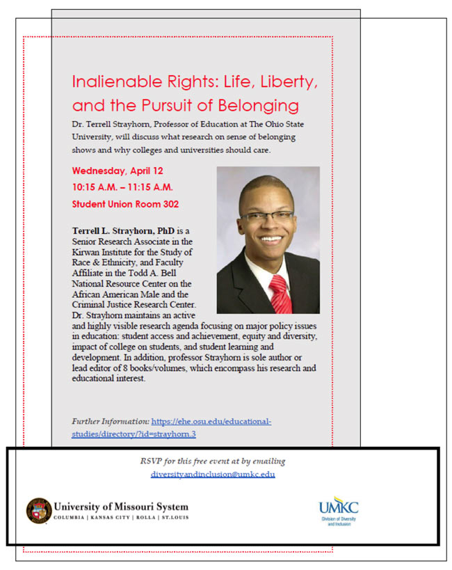 Dr. Terrell Strayhorn- Inalienable Rights: Life, Liberty, and the Pursuit of Belonging @ Student Union - Room 302 | Kansas City | Missouri | United States