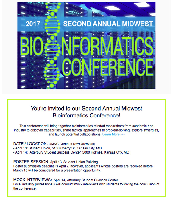 Bioinformatics Conference 2017 @ Please review agenda per link below.