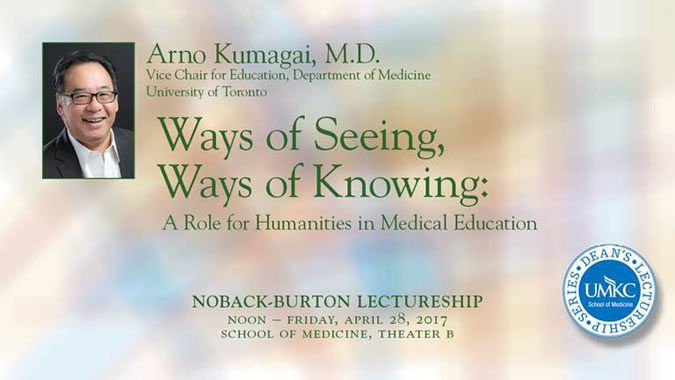Noback-Burton Lectureship: Dr. Arno Kumagai @ UMKC School of Medicine, Theater B | Kansas City | Missouri | United States