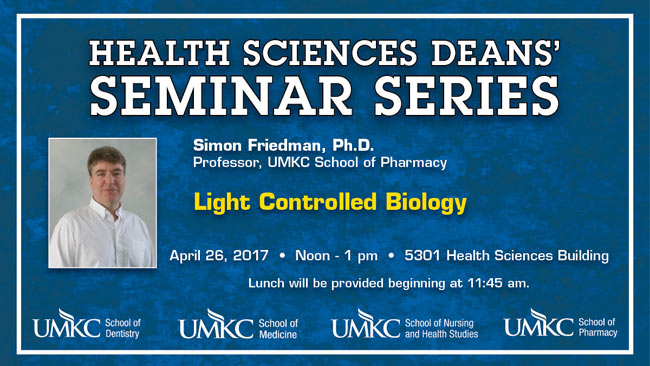 Health Sciences Deans' Seminar Series - Simon Friedman, Ph.D. @ 5301 Health Science Bldg.