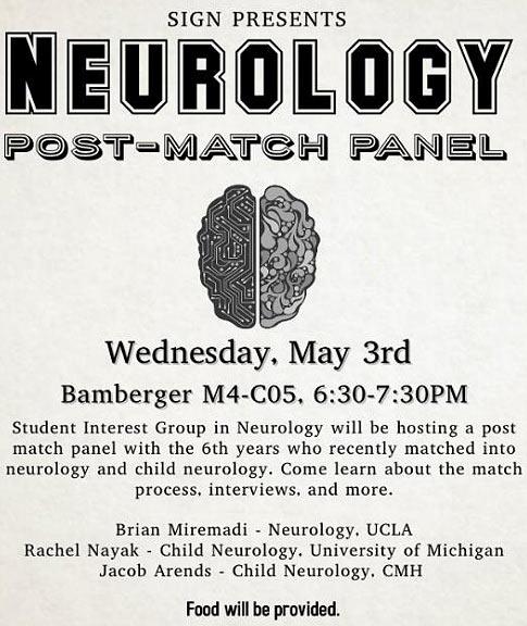 Neurology Post-Match Panel @ Bamberger Room - M4-C05