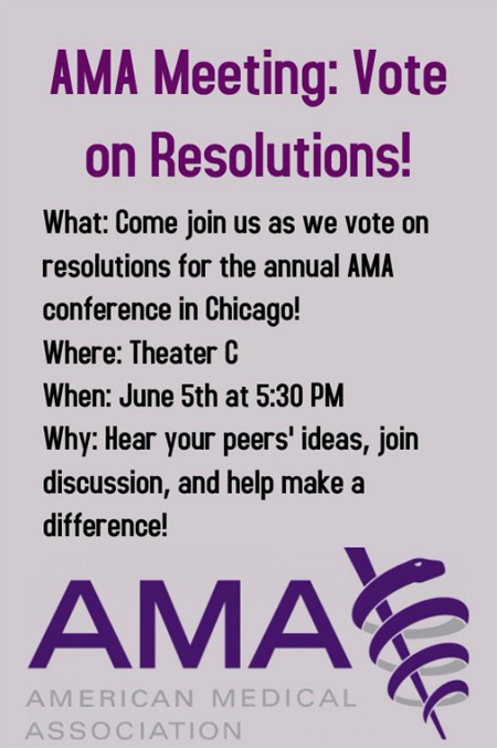 AMA Meeting: Vote on Resolutions! @ Theater C