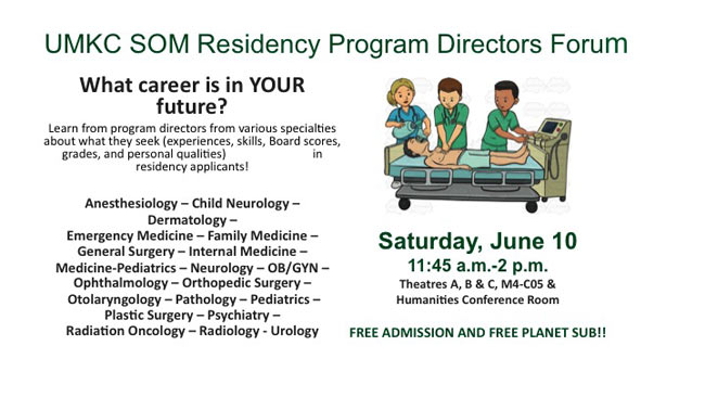 Residency PD Forum - What career is in YOUR future? @ SOM - Please see locations below.