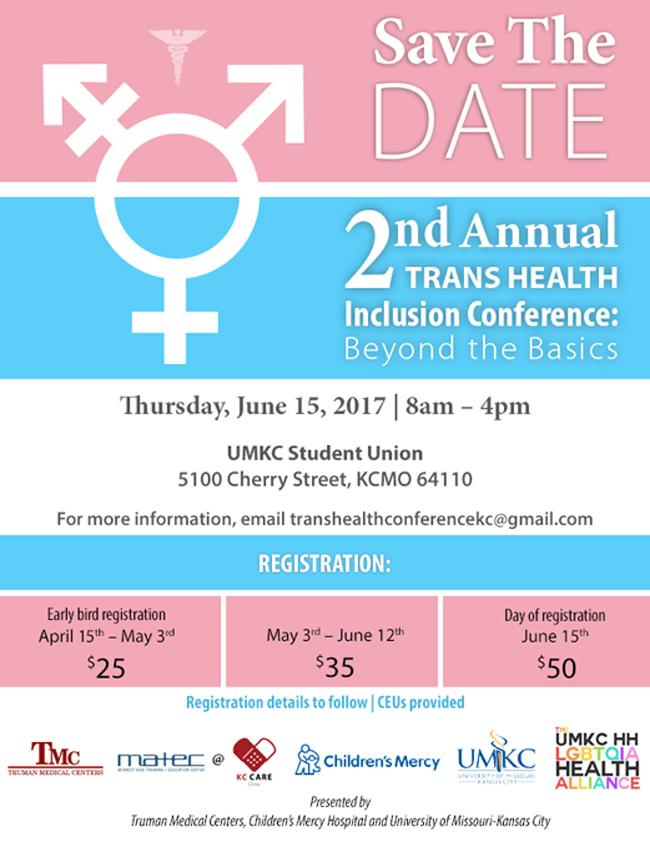 2nd Annual Trans Health Inclusion Conference @ UMKC Student Union | Kansas City | Missouri | United States