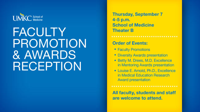 Faculty Promotion & Awards Reception 2017 @ Theater B