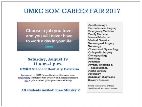 UMKC SOM Career Fair 2017 @ UMKC School of Dentistry
