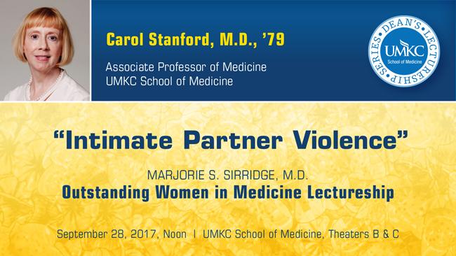 Marjorie S. Sirridge, M.D. - Outstanding Women in Medicine Lectureship 2017 @ UMKC School of Medicine, Theaters B & C