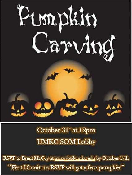 Pumpkin Carving Contest! @ UMKC SOM Lobby
