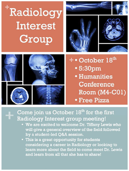 Radiology Interest Group @ Humanities Conference Rm. (M4-Co1)