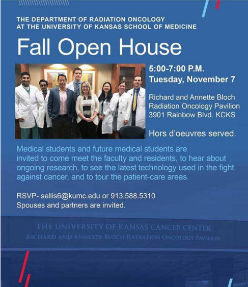 Open House - Radiation Oncology at KU School of Medicine @ Please see invitation below