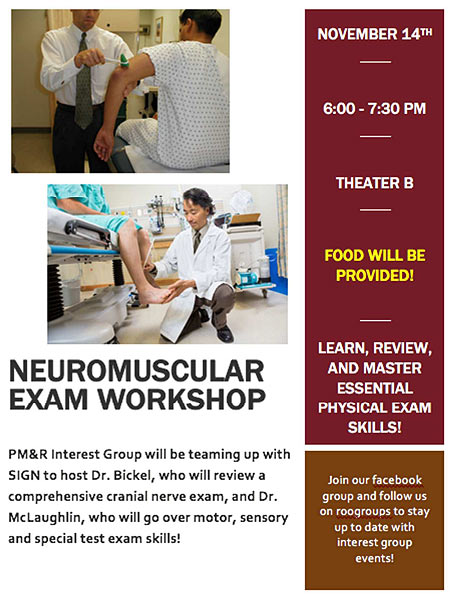 Neuromuscular Exam Workshop @ Theater B