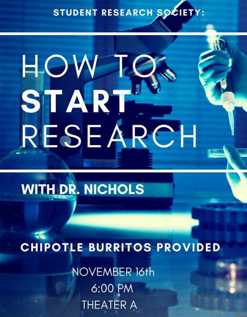 How to Start Research with Dr. Nichols @ Theater A