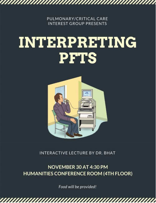 Interpreting PFTS - Pulmonary/CC IG @ Humanities Conference Rm. (4th Flr.)