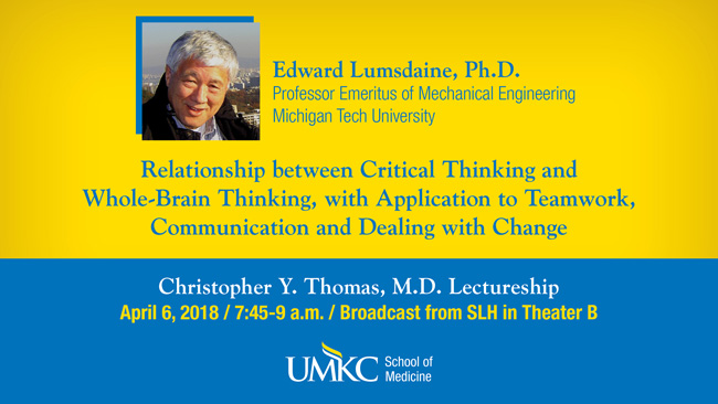 Christopher Y. Thomas, M.D. Lectureship 2018 @ Theater B (Broadcast from SLH)