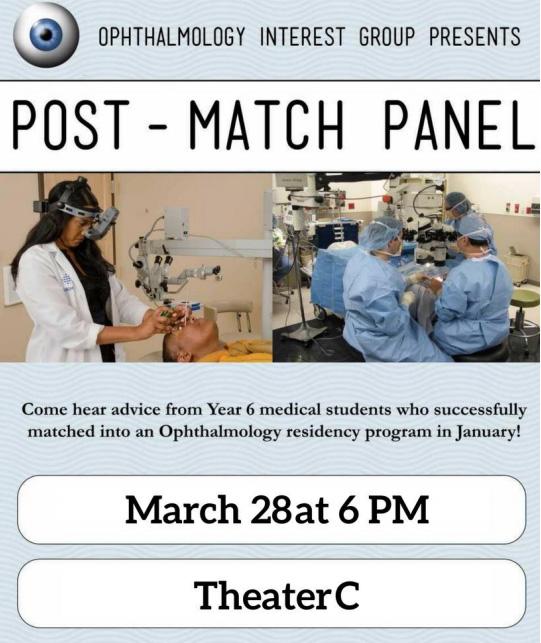 Ophthalmology IG: Post-Match Panel @ Theater C