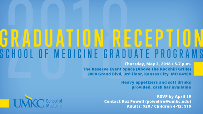 Graduation Reception - SOM Graduate Programs @ Please see tile below.