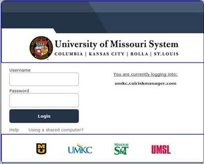 SSO login screen