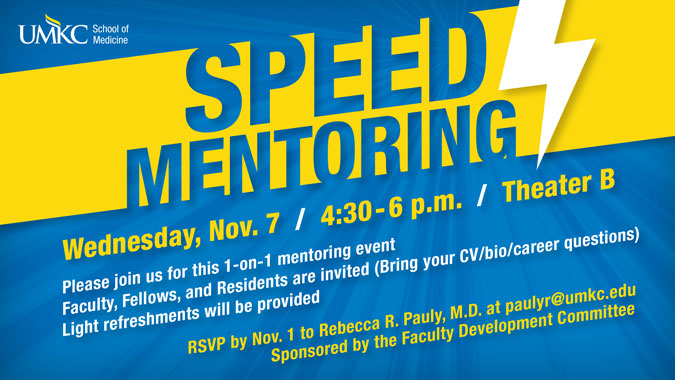 Speed Mentoring, all info below
