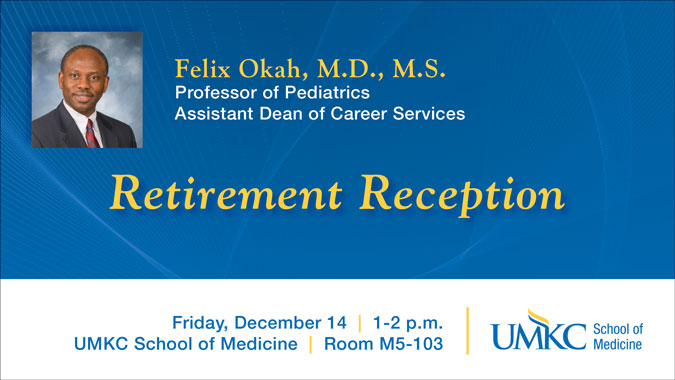 Felix Okah, M.D. - Retirement Reception