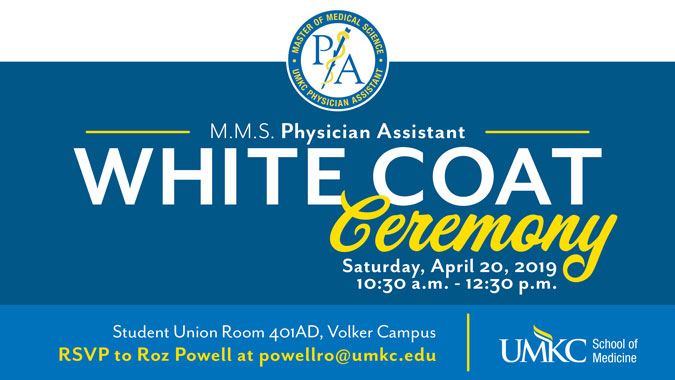 PA White Coat Ceremony - Save the Date