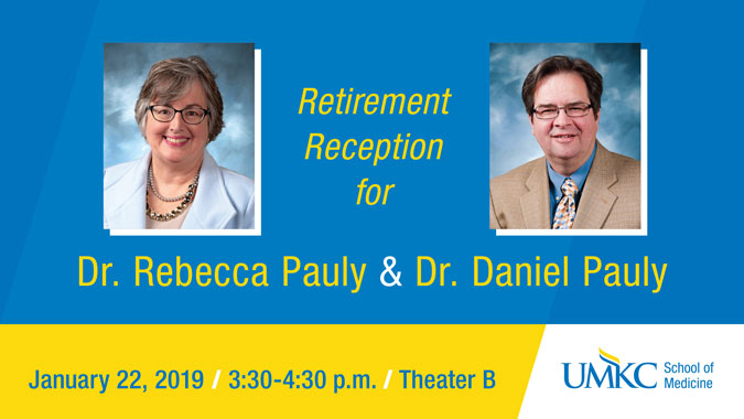 Retirement Reception for Dr. Rebecca Pauly and Dr. Daniel Pauly