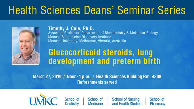 Health Sciences Deans' Seminar Series @ UMKC Health Sciences Building Rm. 4308