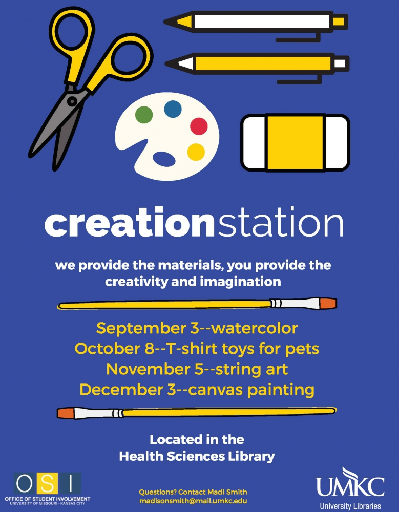 Creation Station @ Health Sciences Library