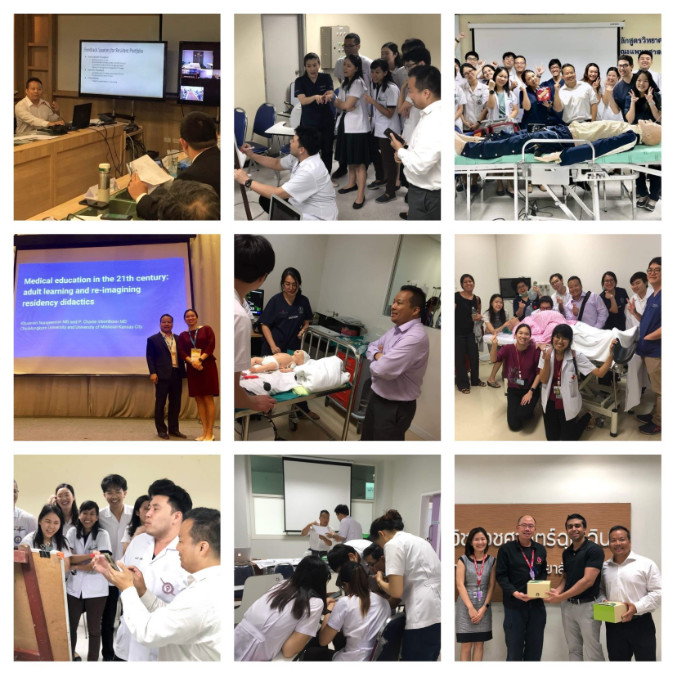Dr. Inboriboon, Students, and Residents in Thailand!