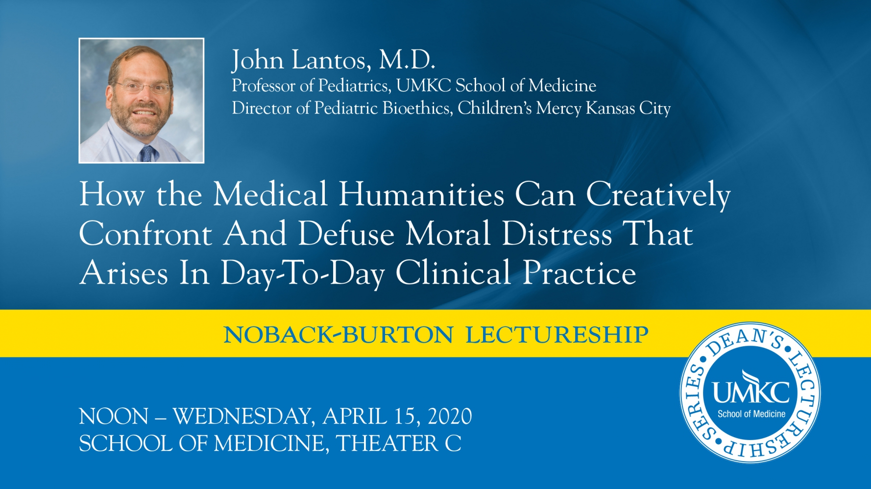 Dean's Lectureship Series - April 2020 Graphic