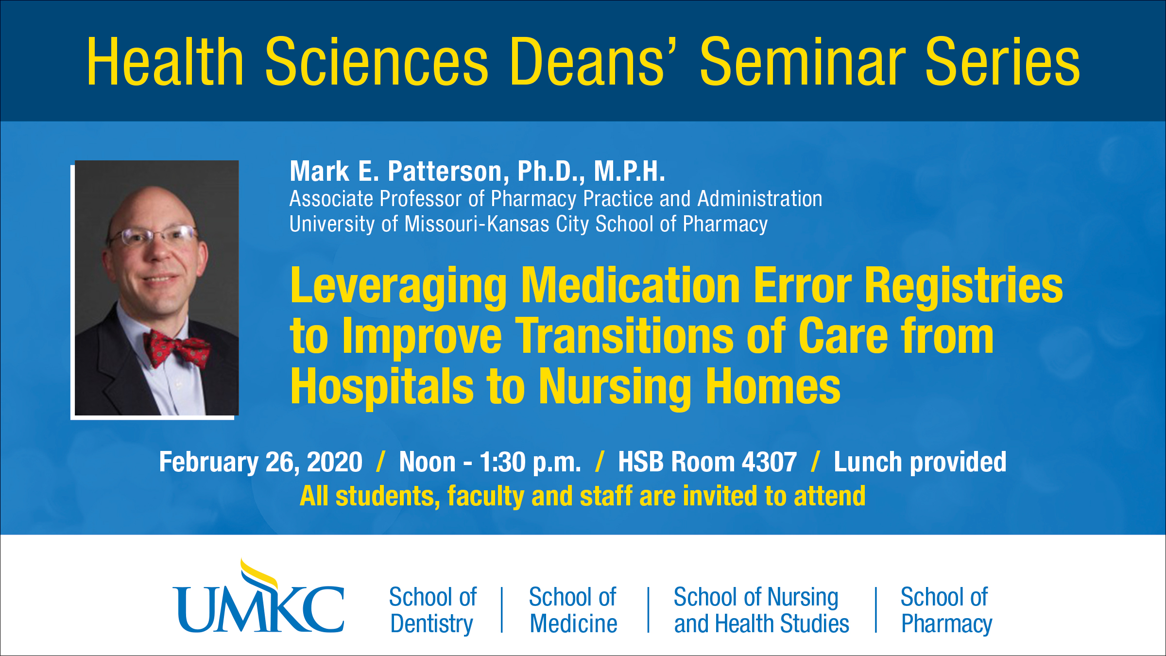 Health Sciences Deans' Seminar Series Banner Image